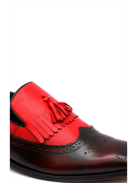 START - 7712 CHERRY+RED LEATHER SHOES