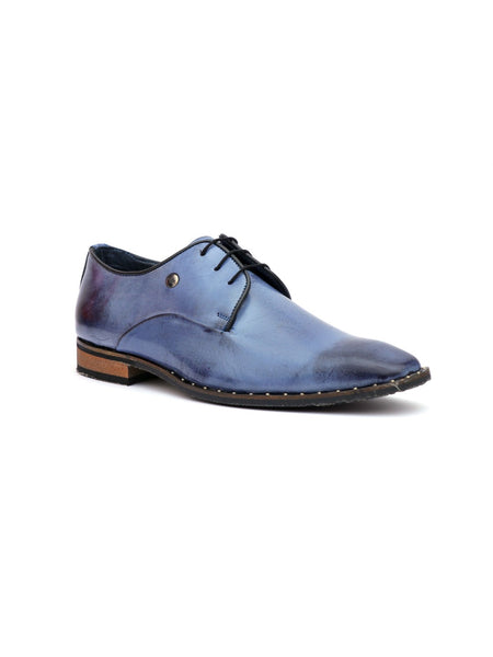 START - 7713 BLUE LEATHER SHOES