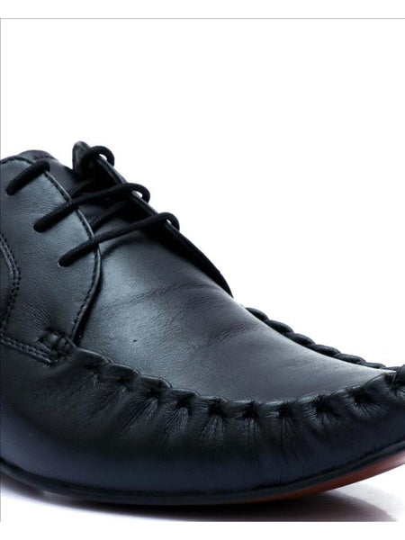 JAMES - 7852 BLACK LEATHER SHOES