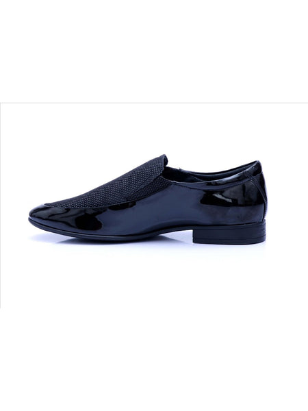 PISTOL - 7904 BLACK LEATHER SHOES