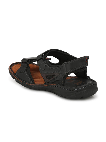 ROUTER - 8501 BLACK+BROWN SANDALS