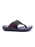 LUES - 901 BROWN LEATHER SLIPPERS
