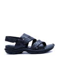 NEW DRAGON - 9217 BLACK LEATHER SANDALS