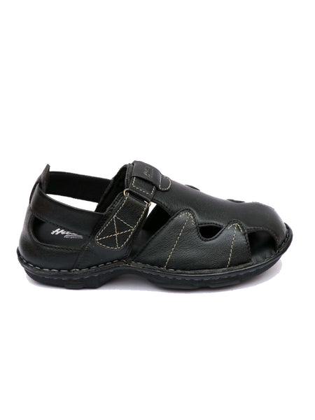 NEW DRAGON - 9237 BLACK LEATHER SANDALS