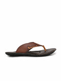 NIKE - 9401 BROWN+TAN SLIPPERS