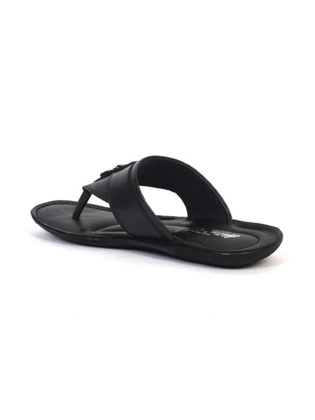 NIKE - 9403 BLACK LEATHER SLIPPERS