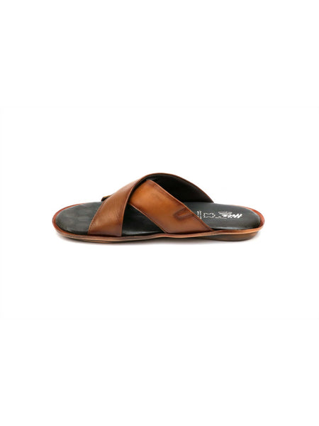 CROODS - 9602 TAN LEATHER SLIPPERS