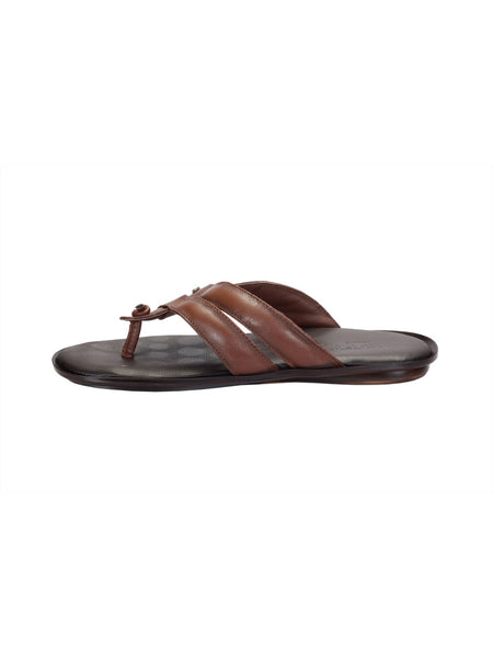 CROODS - 9603 TAN LEATHER SLIPPERS