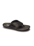 MARCOS - 9751 BLACK LEATHER SLIPPERS