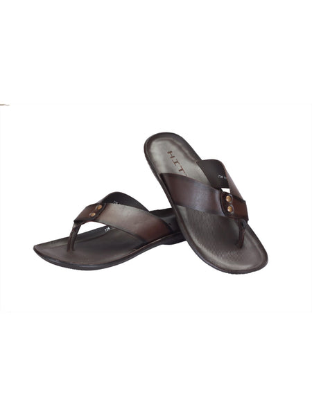 MARCOS - 9752 BROWN LEATHER SLIPPERS