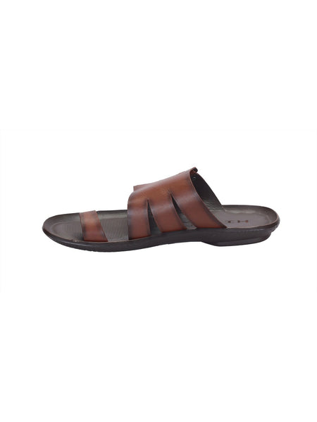 MARCOS - 9782 TAN LEATHER SLIPPERS
