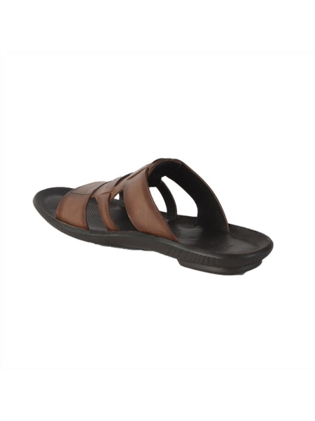 MARCOS - 9789 BROWN LEATHER SLIPPERS