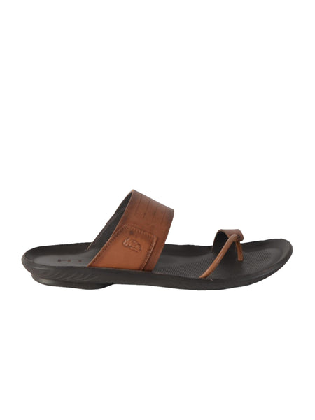 MARCOS - 9793 TAN LEATHER SLIPPERS