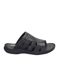 PELLEGRINI - 9802 BLACK LEATHER SLIPPERS