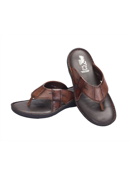 PELLEGRINI - 9805 TAN LEATHER SLIPPERS