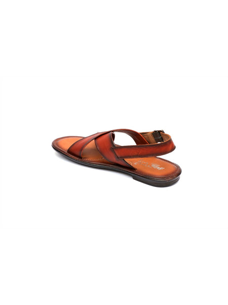 GOOGLE - 9851 TAN LEATHER SANDALS