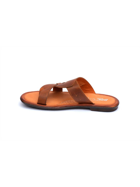 GOOGLE - 9854 TAN LEATHER SLIPPERS