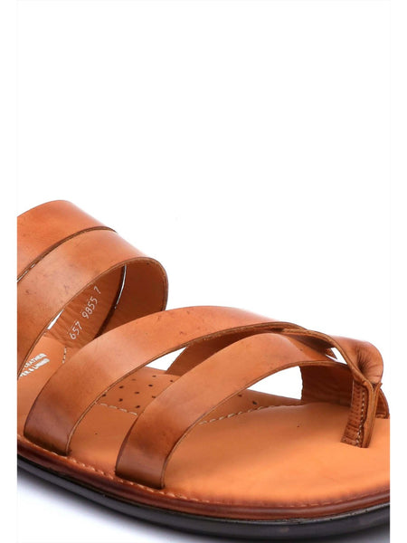 GOOGLE - 9855 TAN LEATHER SLIPPERS