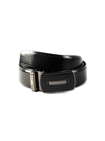 AL 502 BLACK LEATHER BELT