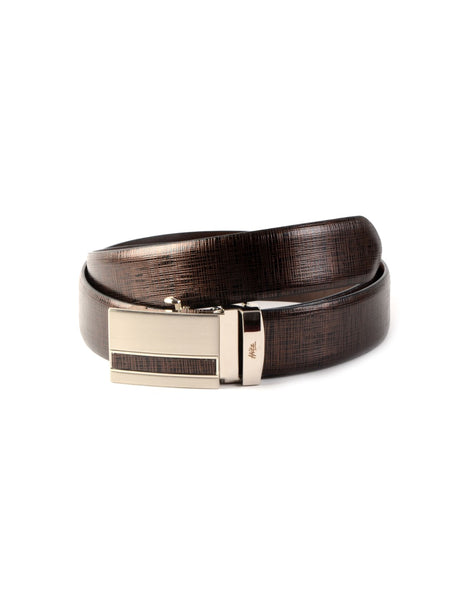 AL-9011 BROWN LEATHER BELT