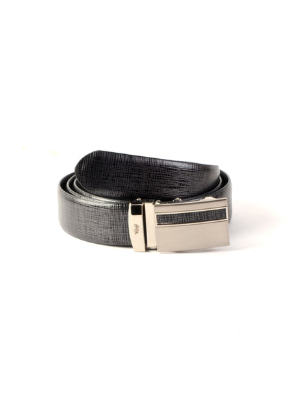 AL-9011 GREY LEATHER BELT