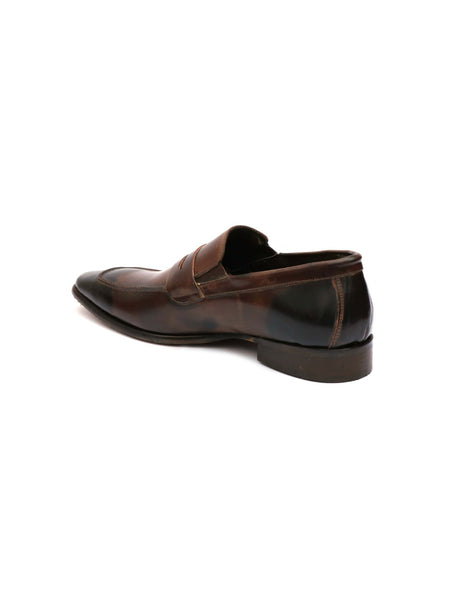 CARDIO B-53 BROWN LEATHER SHOES