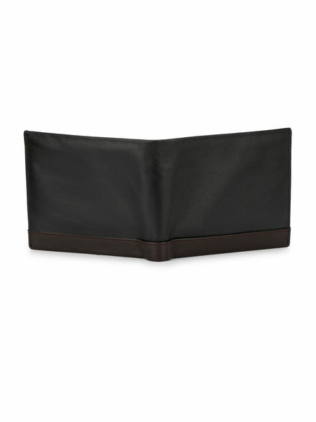 BS-3009 BLACK+BROWN LEATHER WALLETS