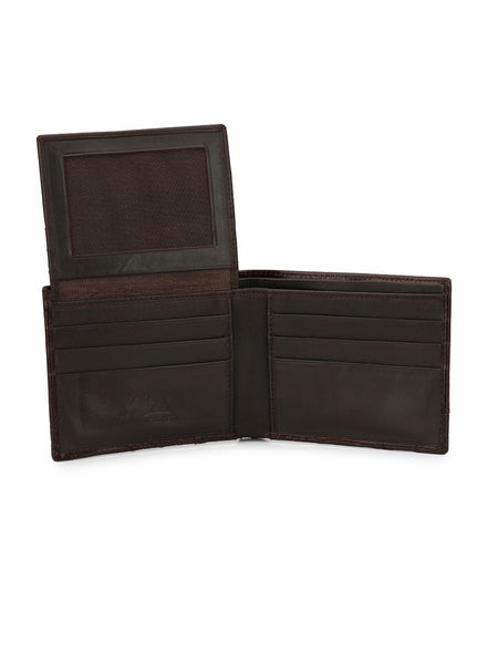 BS-CROCO-1568 BROWN LEATHER WALLETS