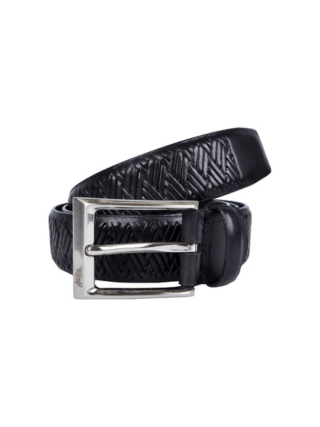 BS405 BLACK LEATHER BELT