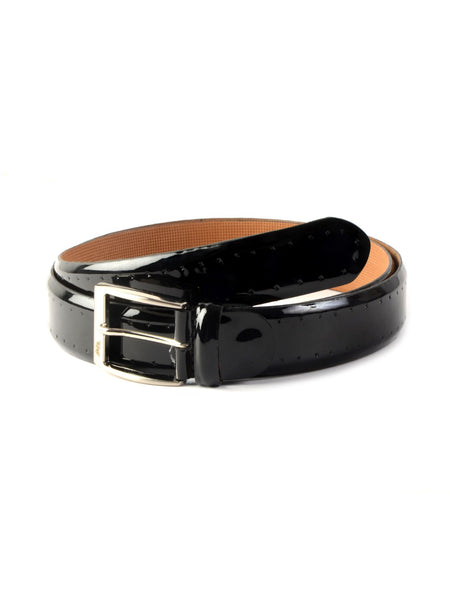 CFTD-02 BLACK LEATHER BELT