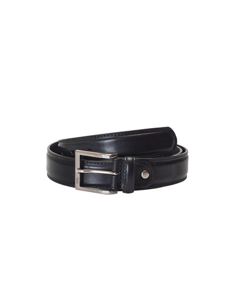 CFTD-22 BLACK LEATHER BELT