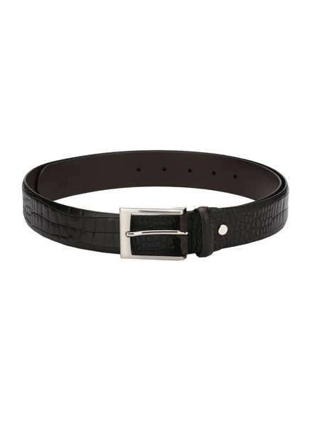 CROCO-1568 BROWN LEATHER BELTS