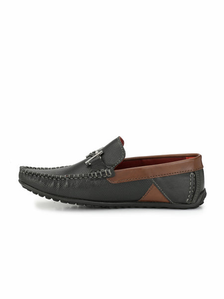 FILIPY F-13 BLACK+BROWN LOAFERS