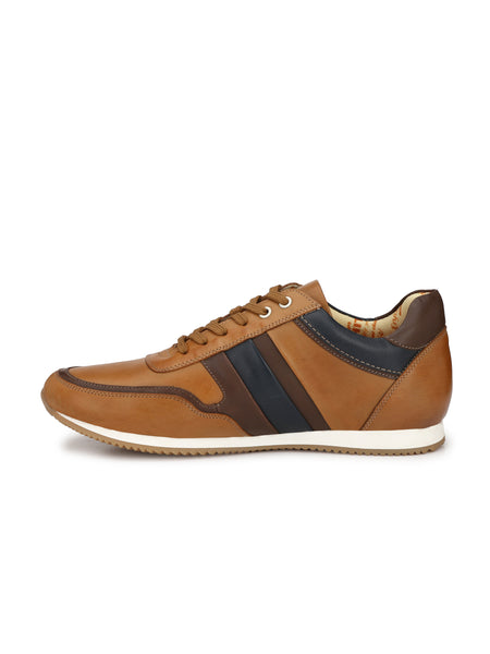 JOGGER JO-3 TAN+BROWN LEATHER SHOES