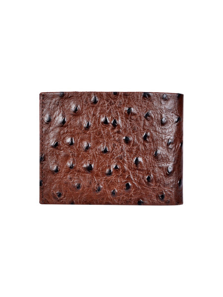 OSTRICH BROWN LEATHER WALLETS