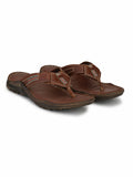 VICTOR - 207 TAN LEATHER SLIPPERS