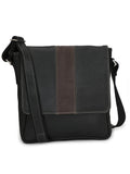 MMB 352 MESENGER BLACK LEATHER BAGS