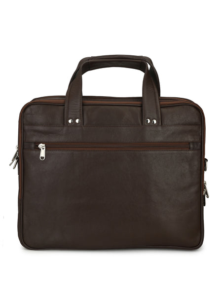 EB 323 BROWN LEATHER LAPTOP BAGS