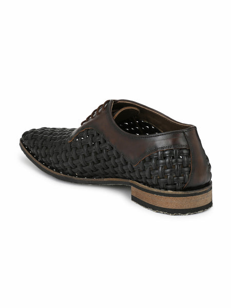 MOON - 7713 BROWN LEATHER SHOES