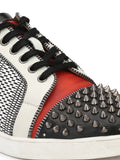 SNEAKER SN-6 BLACK+RED+WHITE LEATHER SHOES