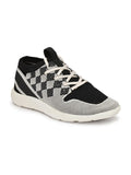 SPORTY  S-5 WHITE+BLACK LEATHER SHOES
