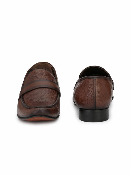 JAMES - 7858 BROWN LEATHER SHOES