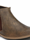 6556 OLIVE LEATHER BOOT