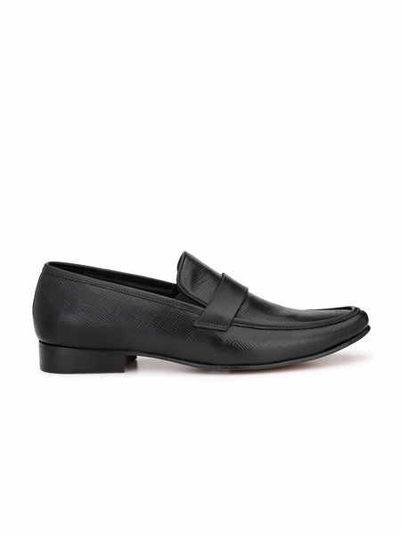 JAMES - 7858 BLACK LEATHER SHOES