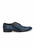 GREEJMAN - 1807 BLUE LEATHER SHOES
