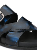 SOFITAL - 5002 BLUE LEATHER SANDAL