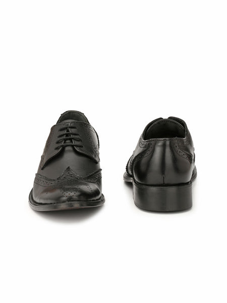 GROUP E - 3103 BLACK LEATHER BROGUE