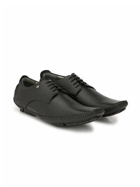 HOWARD - 6805 BLACK LEATHER SHOES