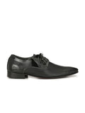 PAULO - 6401 BLACK LEATHER SHOES
