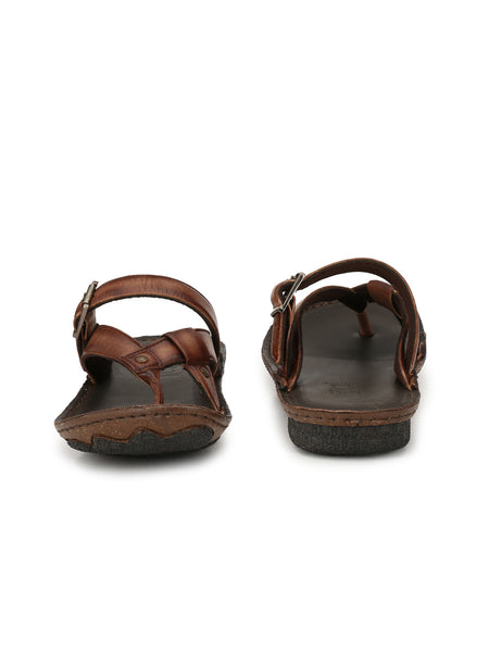 STEP - 7303 BROWN SLIPPERS